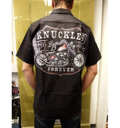 "Lucky 13 Kauluspaita ""Knuckles"", black"