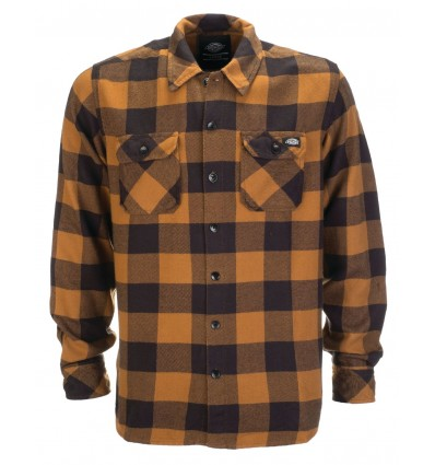 "Dickies ""Sacramento"" flanellipaita, brown duck"