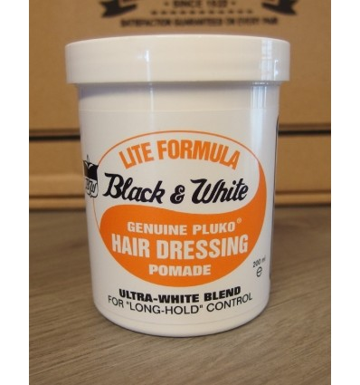 Black & White Hair Dressing Pomade, Lite Formula